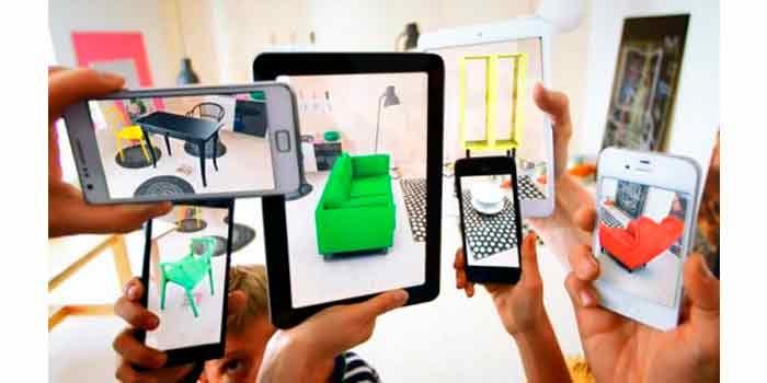 Aplicacion movil de IKEA Realidad Aumentada nos permite visualizar los muebles del catalago en nuestra casa antes de comprarlos