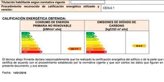 Cambios en el Certificado Energetico Enero 2016 CE3X 2.1