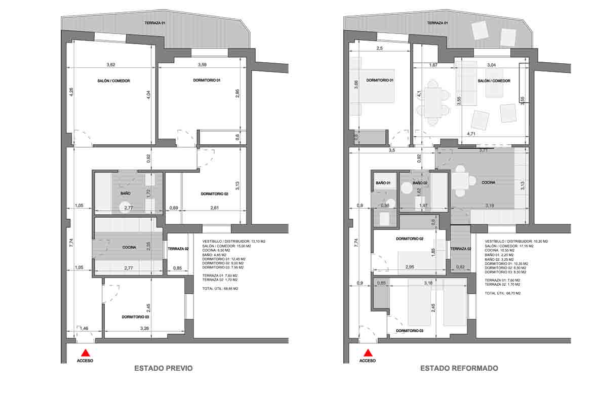 Reforma de vivienda en madrid apuntoarquitectura - Reforma vivienda madrid ...