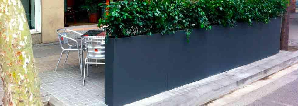 licencia para terraza de bar elementos separadores