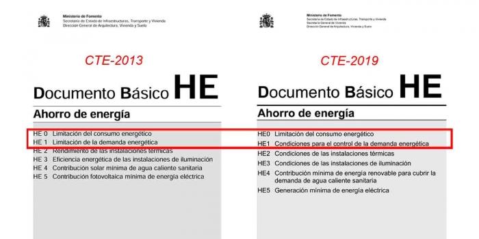 Cambios CTE2013-CTE2019 Certificación Energética HE-0 y HE1